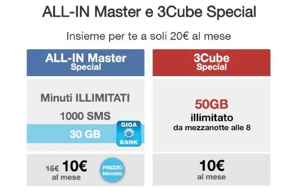 Tre ALL-IN Special e 3Cube Special: minuti illimitati ed 80 GB a ...