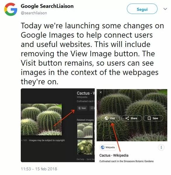 Google toglie il tasto