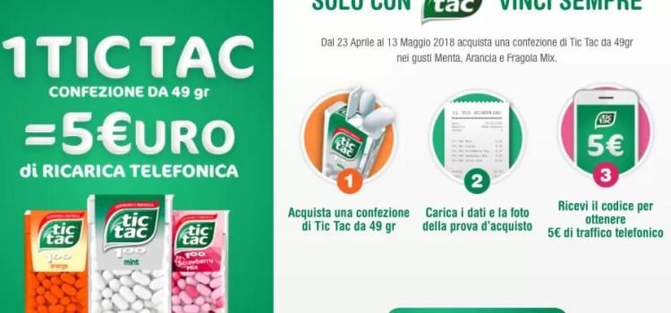 tic tac promozione ricarica 5€