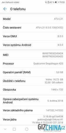Android 8.0 v levném telefonu je na pochvalu