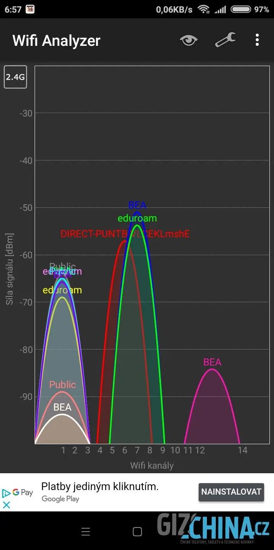 Wi-fi pracuje jen v pásmu 2,4 GHz
