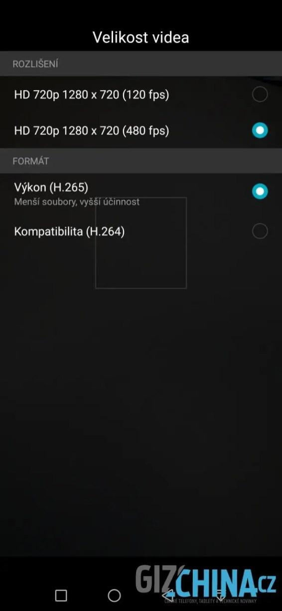 Videa lze pořizovat i v H.265