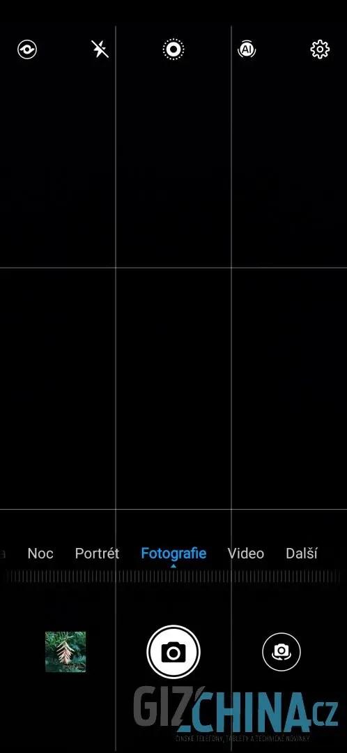 UI aplikace Fotoaparát