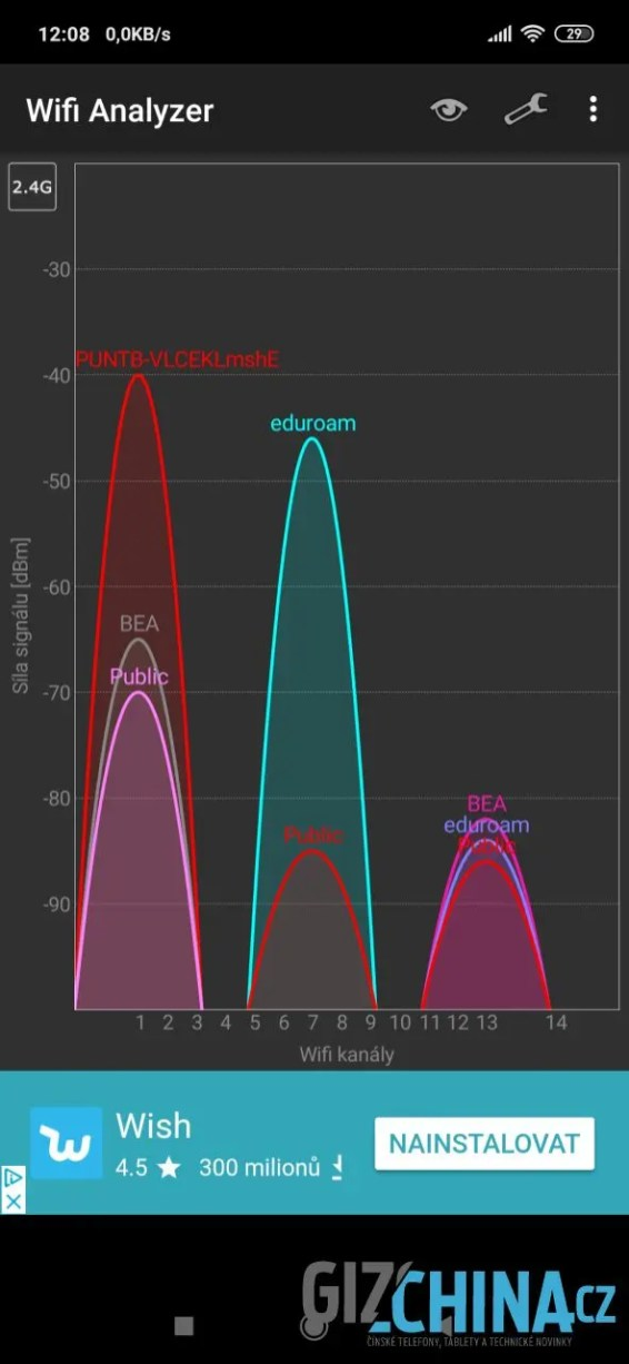 Wi-Fi pracuje perfektně v obou pásmech