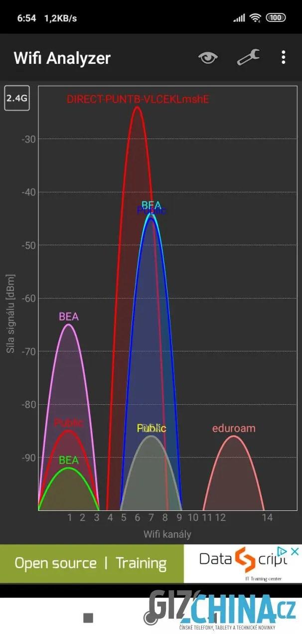 Wi-Fi funguje jen v pásmu 2,4 GHz