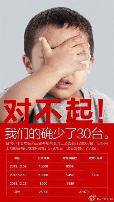 Xiaomi prima Taiwan