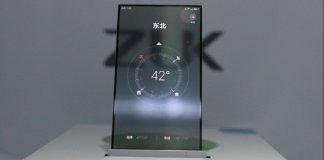 ZUK display trasparente