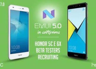 honor 6x 5c nougat beta testing