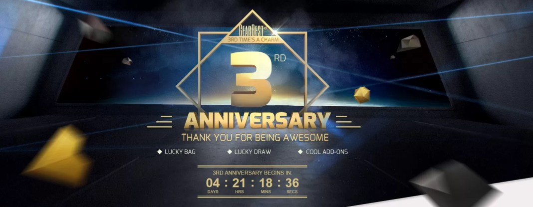 Offerte GearBest terzo compleanno