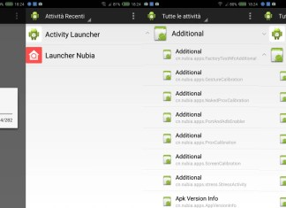 activity launcher menu segreto