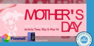 Flossmall - Codici sconto - Festa della mamma - Xiaomi Mi 6