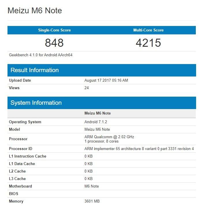 Meizu presenta il nuovo M6 Note