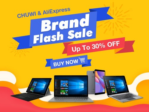 Chuwi AliExpress Brand Sale in Mar. 1200-900