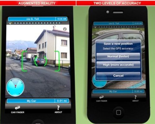 Augmented Car Finder Map Is the Augmented Reality app for iOS