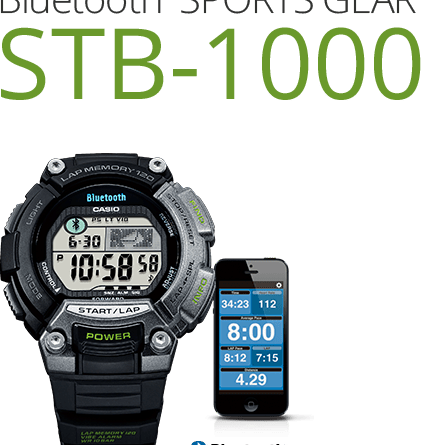 Casio STB-1000 Bluetooth Sports Watch With iPhone Compatibility