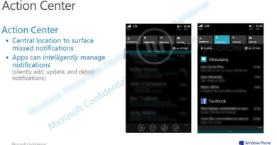 "Windows Phone 8.1's ""Action Center"" Will Support 20 Notifications Per App"
