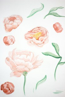 Peach Peonies for a Foreverafternoon Invitation Suite