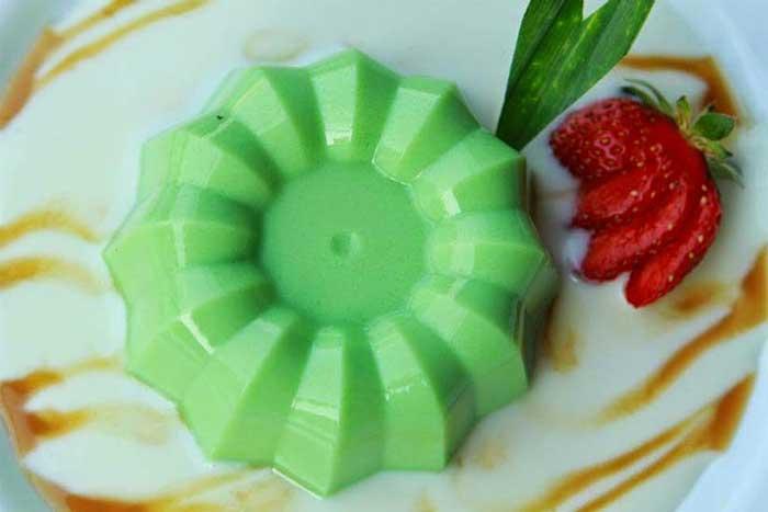 finger food puding melon