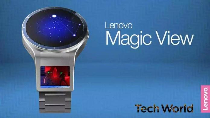 Lenovo Magic View, la smartwatch au concept de double écran