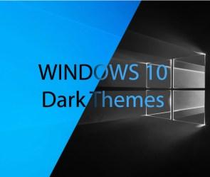 Wndows 10 Dark Themes