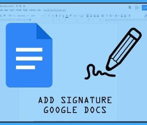 Insert Signature to Google Docs