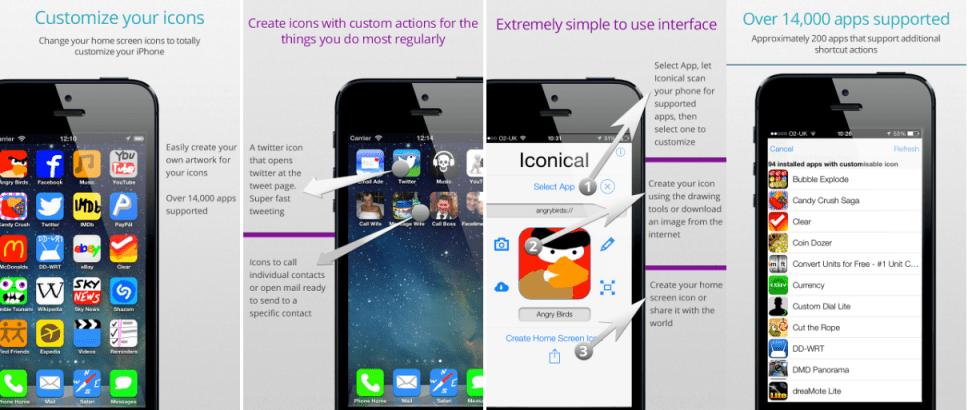 change iOS icons