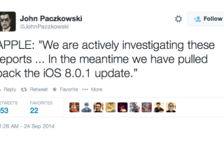 iOS 8.0.1 update pulled back