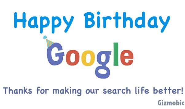 happy birthday to google