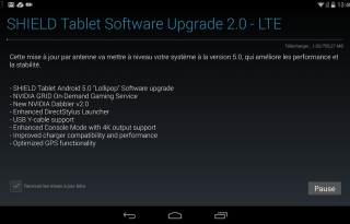 nvidia shield tablet lollipop update