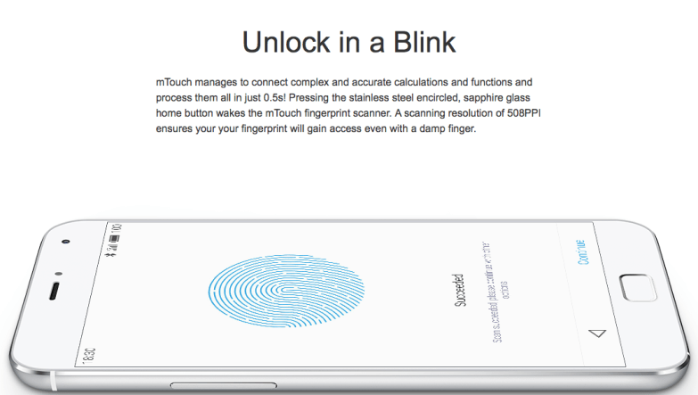 meizu mx4 pro fingerprint scanner