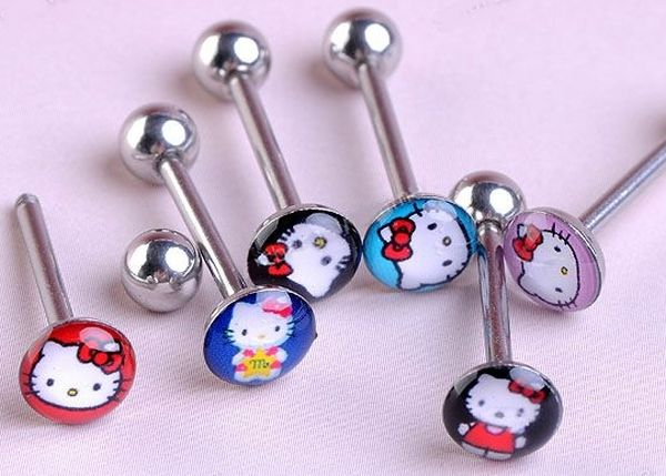 Hello Kitty Tongue Piercing1