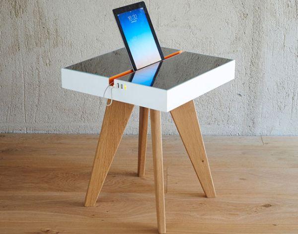 Light-Powered iPad charging Table