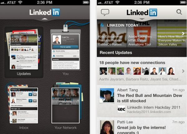 LinkedIn app for i phone 1