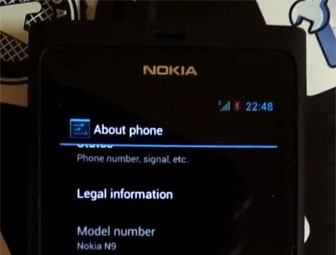 N9 com Android 4.