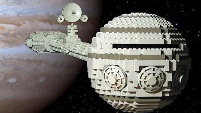 Discovery One feita de LEGO.