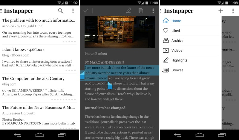 Instapaper 4 android