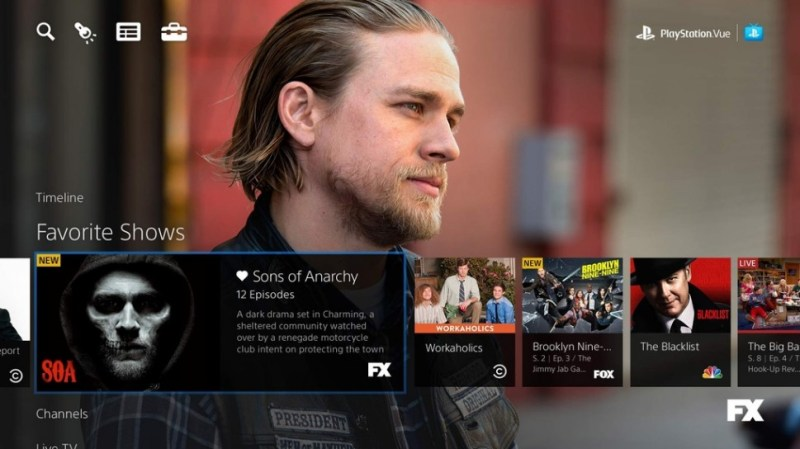 PlayStation Vue, Sons of Anarchy.