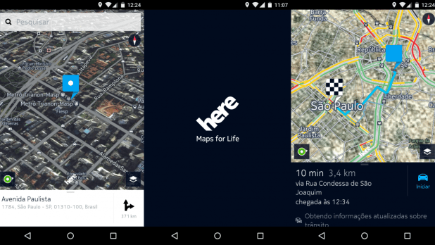 Here Maps no Android