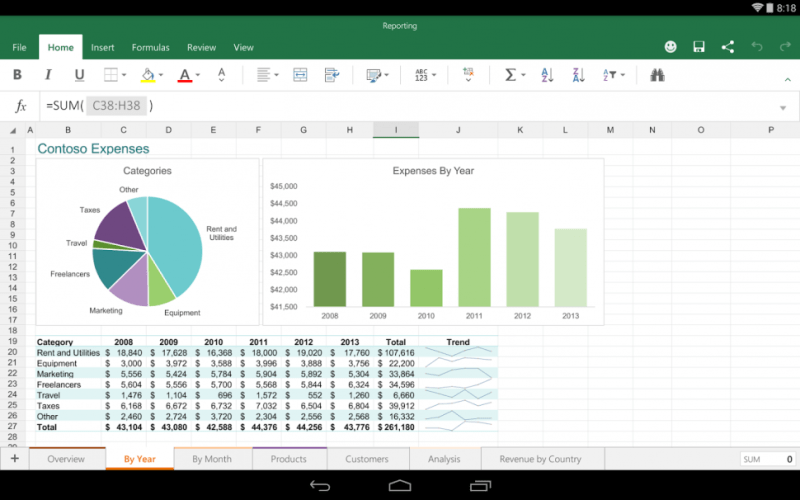Microsoft Office para tablets Android (2)