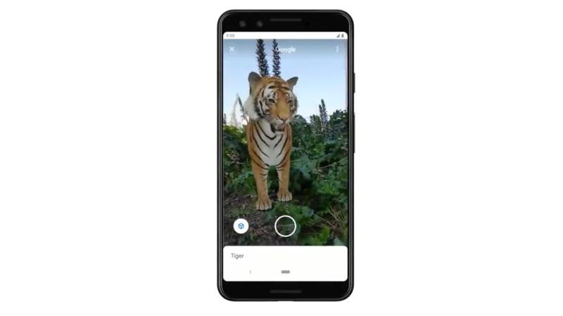 Tigre em 3D em busca do Google