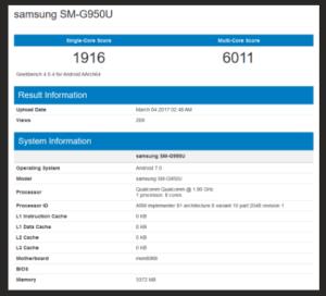 Galaxy S8 Benchmark
