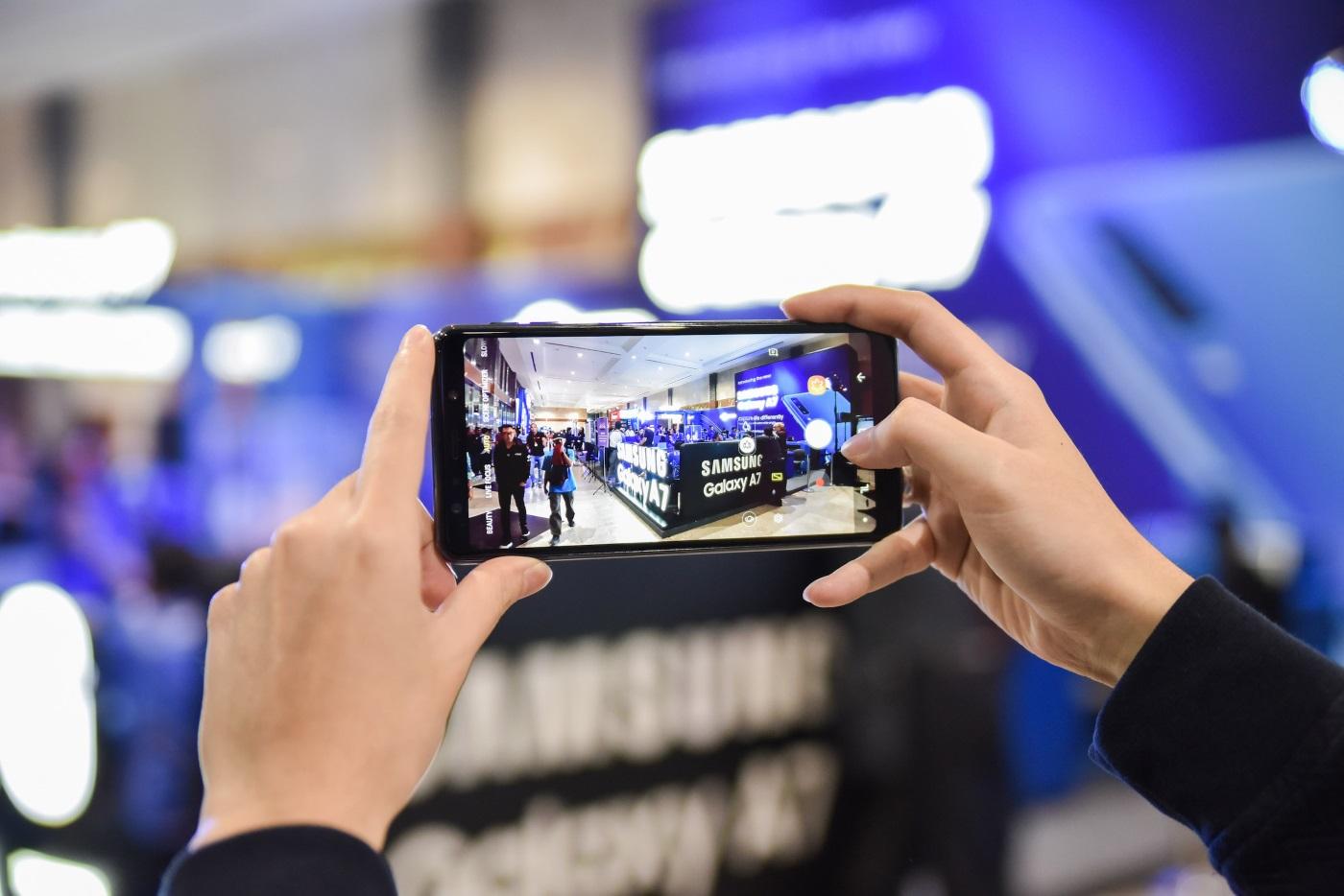 Foto wide angle Samsung Galaxy A7