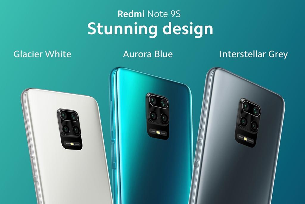 Pilihan warna Redmi Note 9S