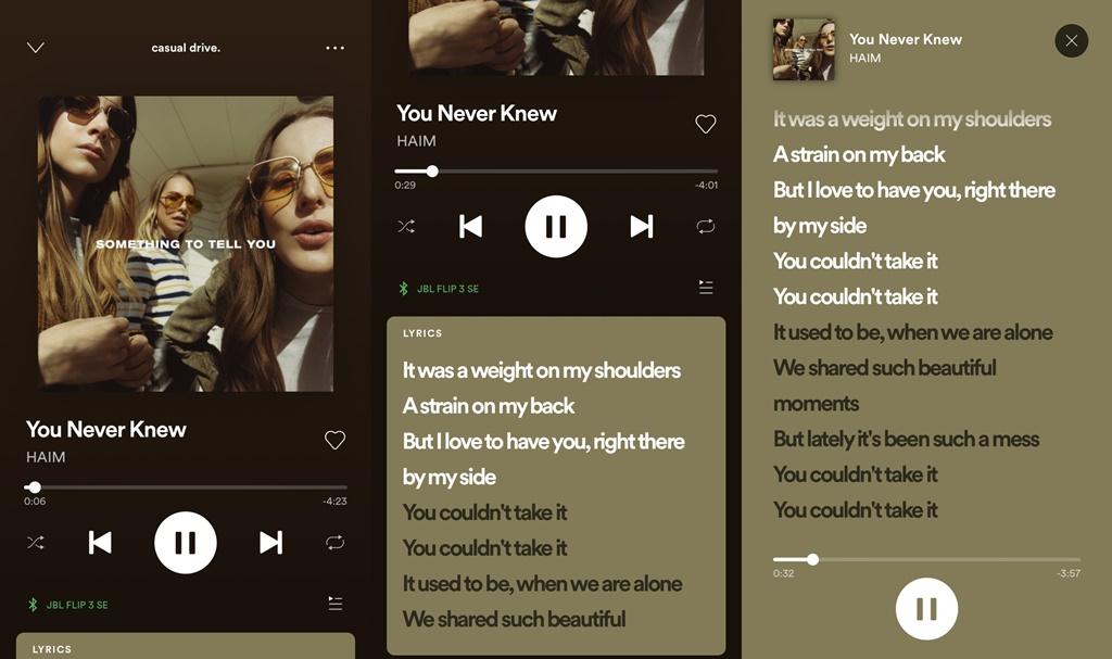 lirik di Spotify
