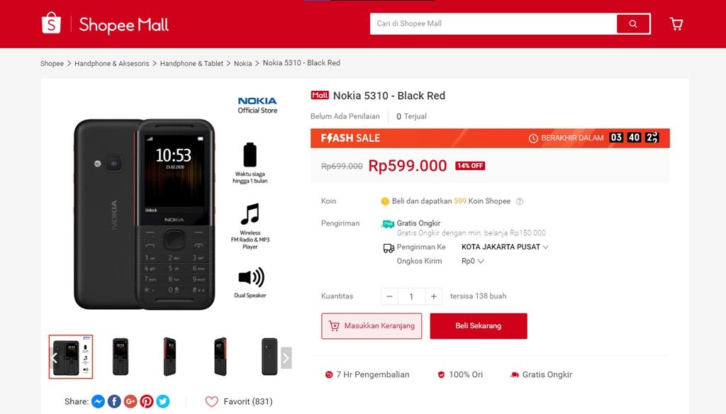 Nokia 5310 (2020) Shopee