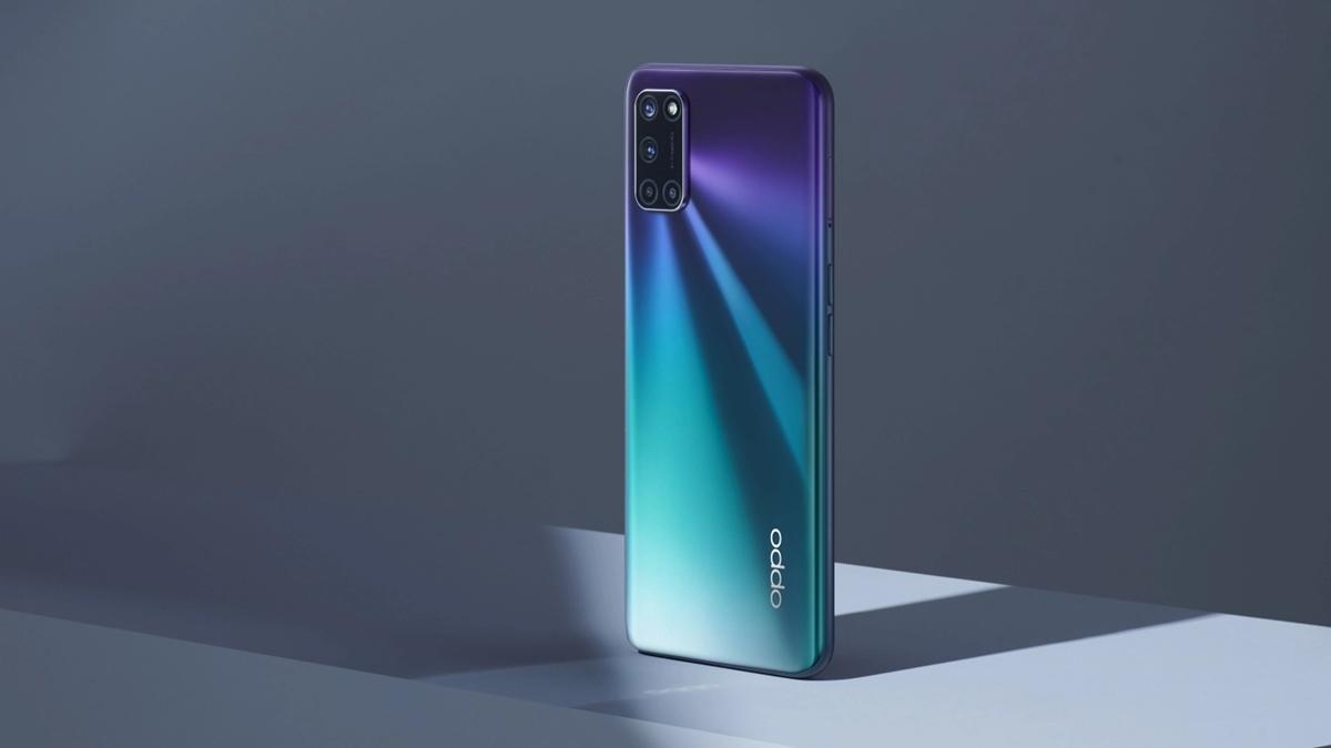 OPPO A92 Aurora Purple smartphone RAM 8GB