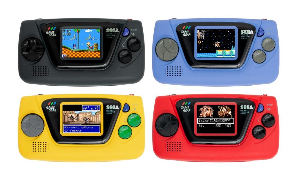 Empat warna Sega Game Gear Micro