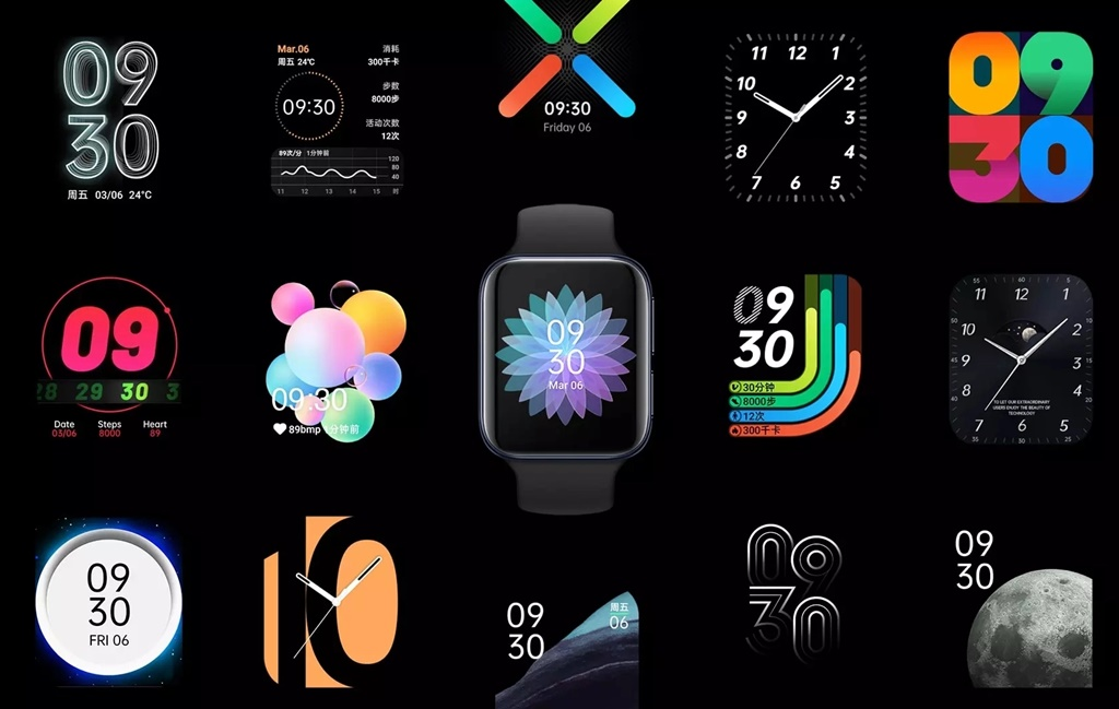 Pilihan watch face OPPO Watch