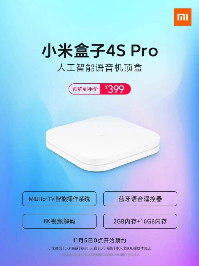 Xiaomi Mi Box 4S Pro: Officially the first set-top box with 8K support