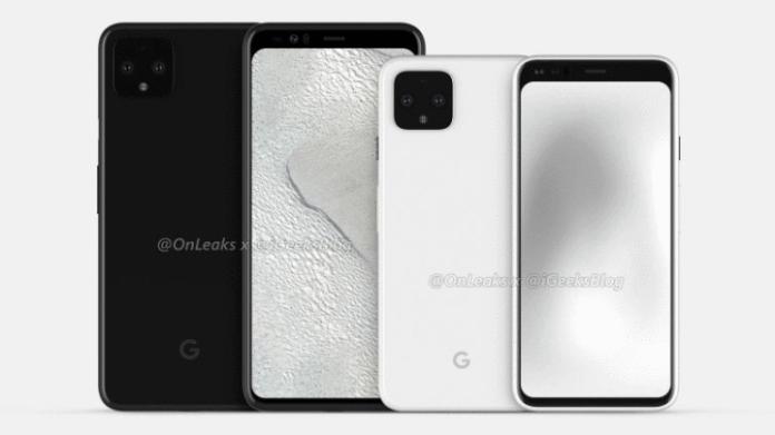Google Pixel 4 leaked by @OnLeaks